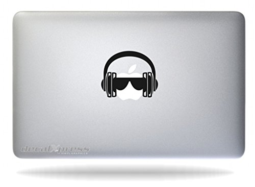 DJ Headphones- Decal Sticker for MacBook, Air, Pro All Models