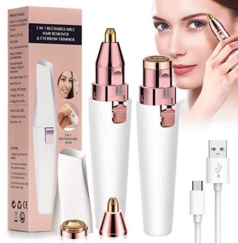 Augenbrauen Rasier USB Wiederaufladbar Augenbrauen Rasier Eingebautes Helles Eyebrows Hair Remover,Augenbrauentrimmer Augenbraue Trimmer