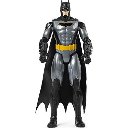 Batman Personaggio da 30 cm Articolato - Versione Grigio metallizzato, dai 3 Anni - 6056690