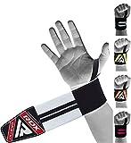 RDX Fasce Polsi Sollevamento Pesi Cinghie con Passante Pollice, Approvato da IPL e USPA, Polsiere Palestra Supporto Polso Wrist Wraps per Allenamento, Powerlifting, Bodybuilding, Fitness, Uomo Donna