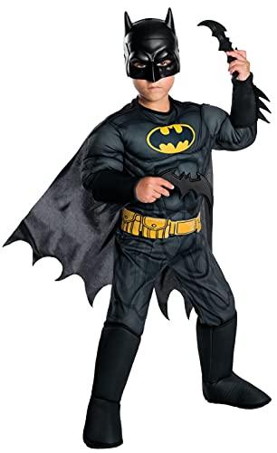 Rubie's Costume Boys DC Comics Deluxe Batman Costume, Medium