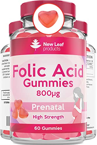 Folic Acid Pregnancy Chewable Vegan Gummies High Strength Prenatal Conception Folate Vitamins 400mcg...