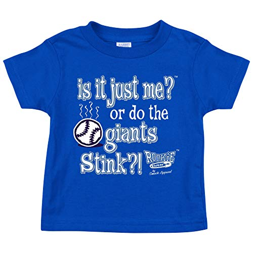 Smack Apparel Los Angeles Baseball Fans. is it Just Me? (Anti-Giants) Royal Toddler Tee (Toddler Tee, 3T)