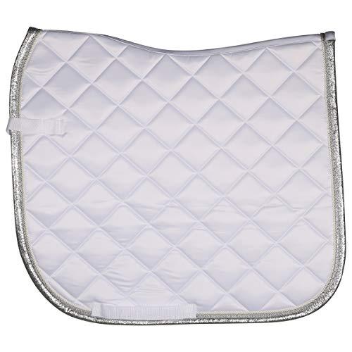 Harry's Horse Schabracke Pure Le- White-Silver-Dressur Full