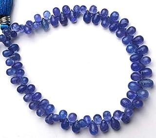"""Jaipur Gems Mart Piedras Preciosas de tanzanita Natural 4x6 a 5x7MM Briolettes en Forma de lágrima 8""""Hebra Completa Calida..."""