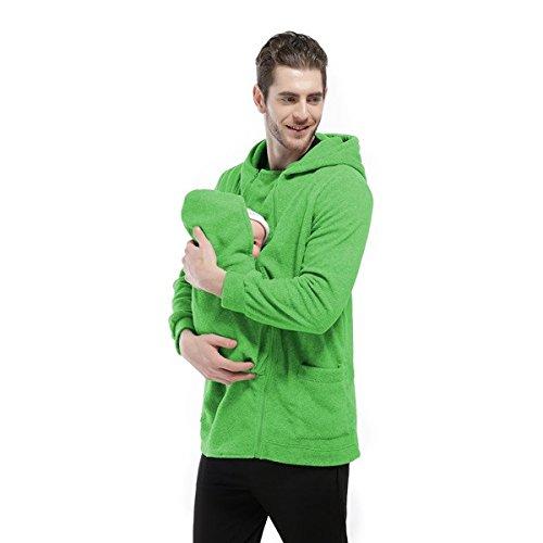 Alamor Huisdieren Care Baby Care Brood Pouch Multifunctionele Hooded Warm Fleece Herfst Winter Jas Sweater-Green-L