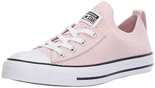 Converse Women's Chuck Taylor All Star Shoreline Knit Slip On Sneaker, Barely Rose/White/Black, 7.5 M US