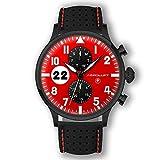 Rennfahreruhr - Rote Motorsport Uhr Herren Type 1 Monza