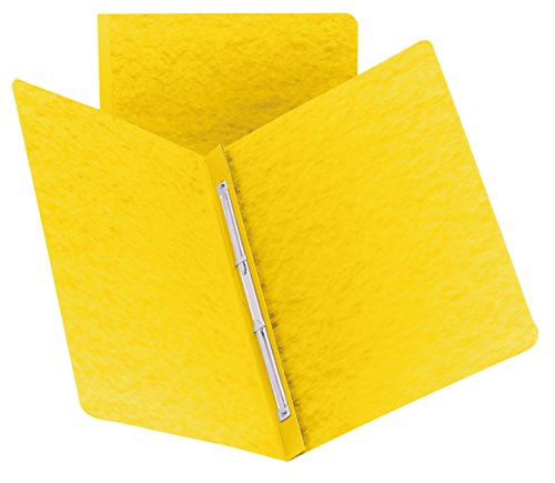 """Smead PressGuard Report Cover, Metal Prong Side Fastener with Compressor, 3"""" Capacity, Letter Size, Yellow (81852)"""