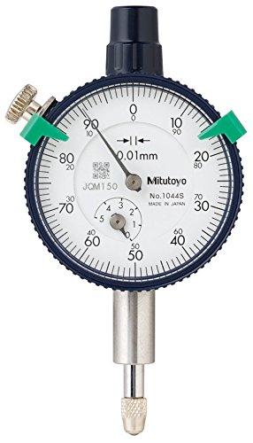 Mitutoyo 1044S Serie 1Kompakte Messuhr, metrisch, mit Lug, 5mm/1mm Range/Pro Rev, 0–100Lesen