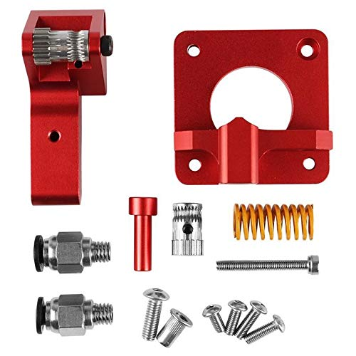X-BAOFU, 1PC Kit Upgrade Aluminium Doppelgetrieberolle Dual Drive Extruder for Creality CR-10 / CR-10S / CR-10S Pro/Ender-3 / Ender-3 Pro 3D-Drucker (Farbe : AS Show)