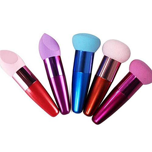 One Pack beauté Lollipop cosmétiques éponge pinceau fond de teint Correcteur Blender Eponges Liquid Cream Foundation (couleur aléatoire)