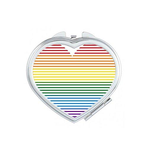 DIYthinker LGBT Tüpfeln Regenbogen Homosexuell Lesben Transgender Bisexuellen Unterstützung Gezeichnet Herz Illustration Herz Compact Make-up Taschenspiegel Tragbare Nette kleine Handspiegel