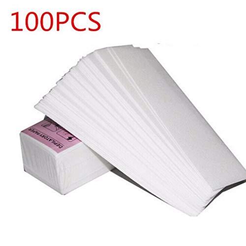 100 Pieces/Lot Enlèvement Nonwoven Corps Tissu Cheveux enlever la Cire Rouleaux de Papier Épilation épilateur Wax Strip Rouleau de Papier