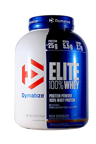 Dymatize Elite 100% Whey Protein Supplement Powder, Pre and Post...