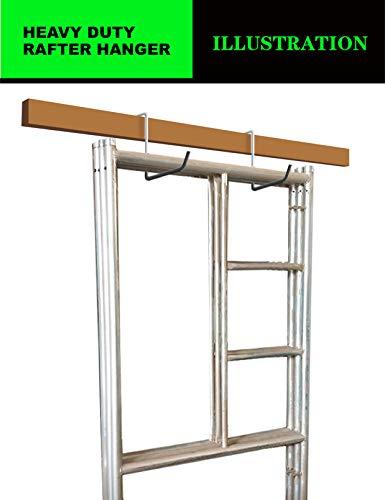 POETISKE Ladder Hook Bike Bicycle Rafter Hanger Large S Fence Beam Garage Storage Set Non-slipping Coated Durable 4pack