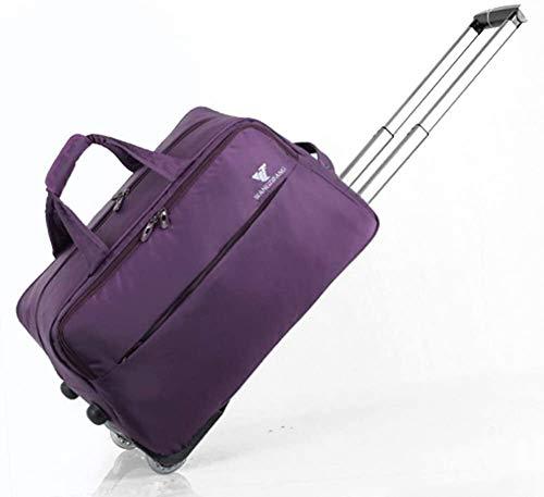 GQY Carretilla - Bolsa Maleta Trolley Cabina Ultraligero (Color : Violet, Size : Moyen)