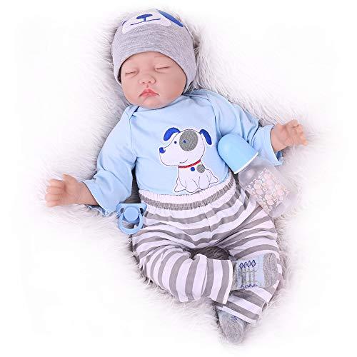 20 Inch Reborn Baby Dolls Boy, Boy Baby Doll, Reborn Sleeping Baby Doll Realistic Newborn Baby Dolls for Age 3+.
