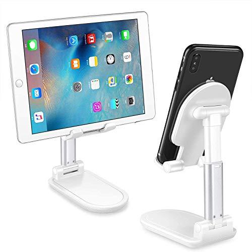 Hoidokly Handy Ständer verstellbare Tisch Handy Halterung, Winkel Höhe einstellbar Aluminium Tablet Halter für Smartphone iPhone SE/Samsung/Huawei/Xiaomi/Sony/HTC/Nitendo Switch und 4-9.7 Zoll Tablet