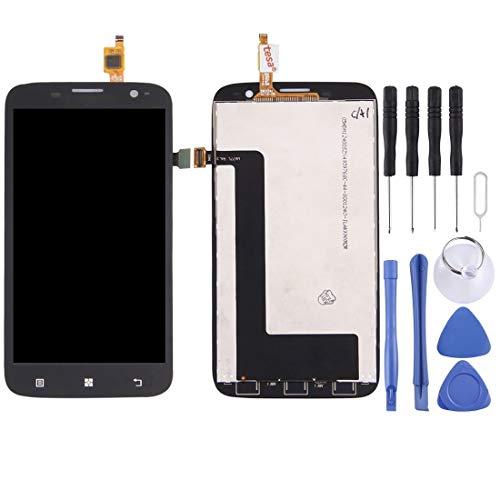 Brillo Alto Pantalla LCD y digitalizador Asamblea Completa for Lenovo A859 (Negro) HD (Color : Black)