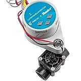 Suinga - Kit programmatore di irrigazione a batterie Bluetooth NODE-BT-100 Hunter + elettrovalvola PGV100 9V 1' batteria - Irrigazione automatica