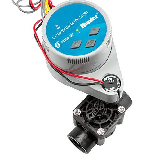 Suinga - Kit programmatore di irrigazione a batterie Bluetooth NODE-BT-100 Hunter + elettrovalvola PGV100 9V 1  batteria - Irrigazione automatica