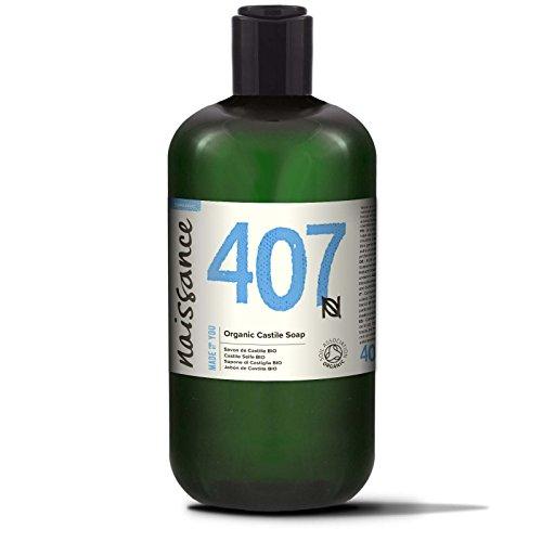 Naissance Castile Seife BIO (Nr. 407) 500ml | Natürliche BIO zertifizierte unparfümierte Flüssigseife | vegan, frei von SLS und SLES