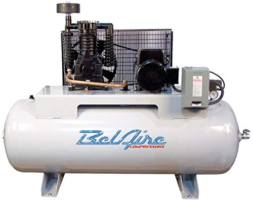 BelAire 5HP 208-230V Single Phase 2 Stage 80 Gallon Horizontal Air Compressor 318H