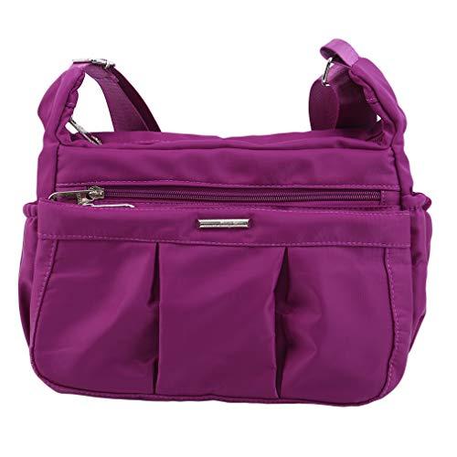 JOOFFF Umhängetasche Women Casual Waterproof Nylon Umhängetasche Umhängetasche Mummy Bag, Bright Purple
