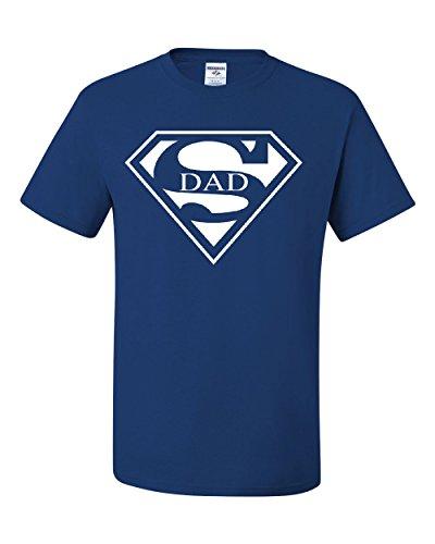 Super Dad T-Shirt Funny Superhero Father's Day Tee Shirt Royal Blue XL