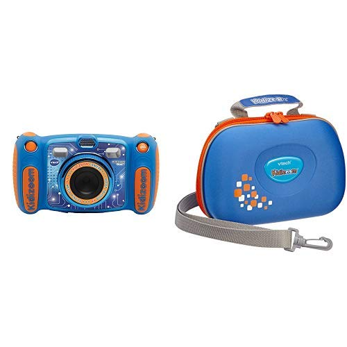 VtechKidizoom Duo 5.0Digitale Kamera für Kinder, 5MP, Farbdisplay, 2Objektive, Pink Englische Version blau & Vtech 80-201803 - Kidizoom Tragetasche