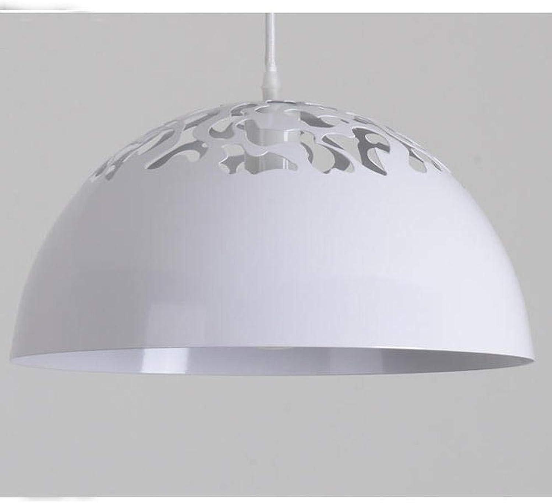 Moderne einfache runde weie schatten pendelleuchte hohleisen fower hngen lichter oslash; 40cm