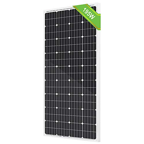 ECO-Worthy 195W 12V Solar Panel Monocrystalline Module Off Grid PV Power for Battery Charging, Boat, Caravan, RV