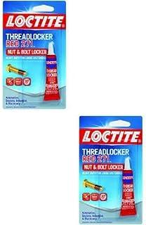 Henkel Loctite Heavy Duty Threadlocker, 0.2 oz Red 271 (2 Pack)