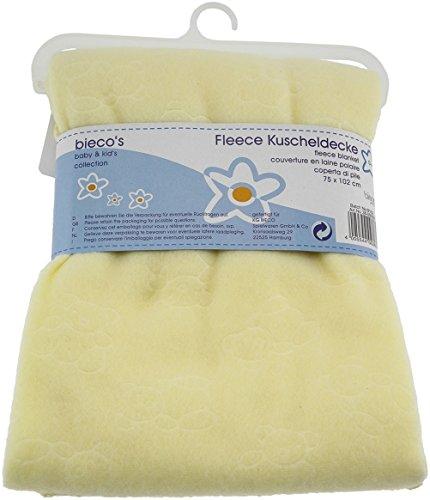 Bieco 38-000007 - Babydecke, hellgelb, Größe: ca. 102 x 75 cm, Kuscheldecke