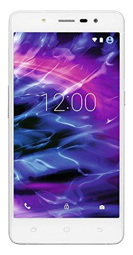 MEDION S5004 Smartphone (12,7 cm (5 Zoll) HD Touchscreen-Display, LTE, 13 Megapixel Rückkamera, 5 Megapixel Frontkamera , Octa-Core-Prozessor, Dual-SIM, 16GB interner Speicher bis zu 64 GB erweiterbar, Android Lollipop 5.1) weiß