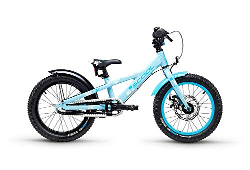 S'Cool faXe Alloy 16R 3-S Kinder Fahrrad (20cm, lightblue Reflex)