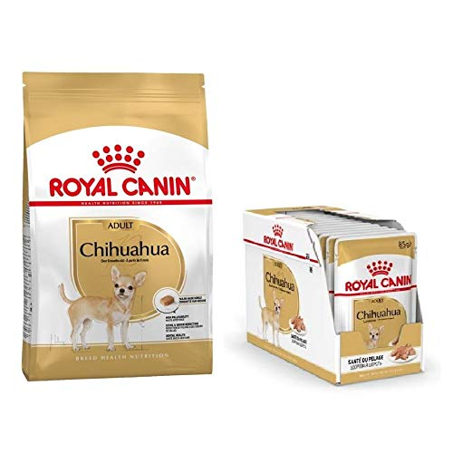 Chihuahua Adult 1.5kg Dry Food Wet Chihuahua 24x85g Pouches