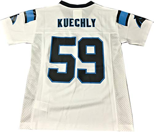 Luke Kuechly Carolina Panthers #59 White NFL Youth Away Mid Tier Jersey (Medium 10/12)