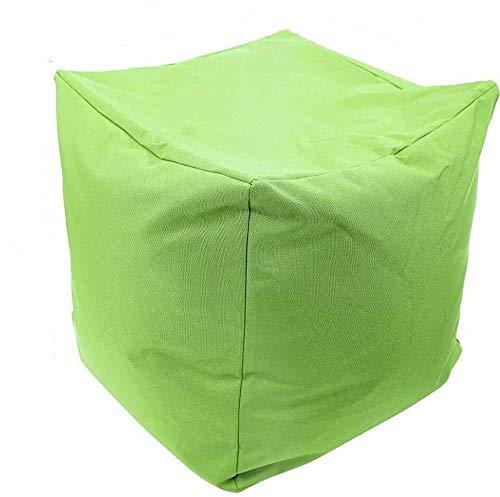 EHD Puf impermeable súper suave, para sala de estar, dormitorio, cocina, patio, exterior, reposapiés, puffes, puffs otomanos (verde claro)