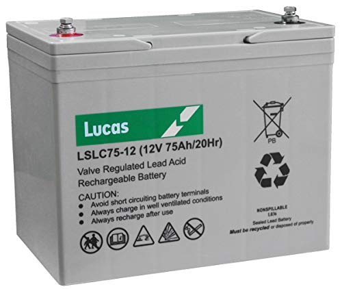 LSLC75-12 Lucas Sealed Lead Acid Accu 75Ah