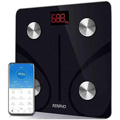 Balança Inteligente Bioimpedância Bluetooth Renpho com USB Recarregável - Topseller, Análise de Composição Corporal, Sincroniza para Smartphone via Bluetooth