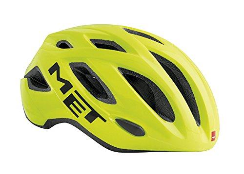 MET Idolo Casco de Ciclismo, Unisex Adulto, Amarillo, 60-64 cm
