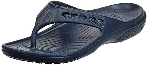 Crocs Unisex Men's and Women's Baya Flip Flops | Adult Sandals, Navy, 11 US