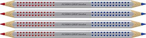 Faber-Castell 110910 Jumbo Grip Silbentrennstift Bicolor rot und blau (4er Pack)