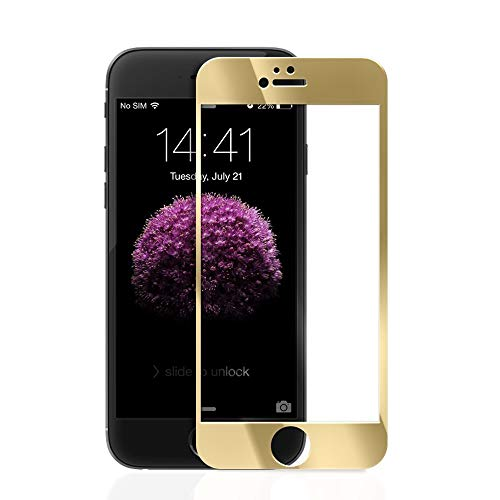 Aarnik Edge To Edge 5D Military Grade Anti-Scratch 5D Tempered Glass Screen Protector For Apple I-Phone 5S - (Gold)