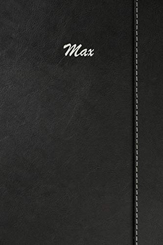 Max: Weekly Meal Planner Simulated Black Leather Track And Plan Your Meals 52 Week Food Planner / Diary / Log / Journal / Calendar Meal Prep And Planning Grocery List