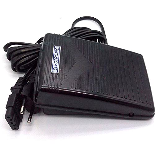 ATIN Pedal de control de pie 200-240V 50Hz y cable de alimentación para la máquina de coser SINGER Janome