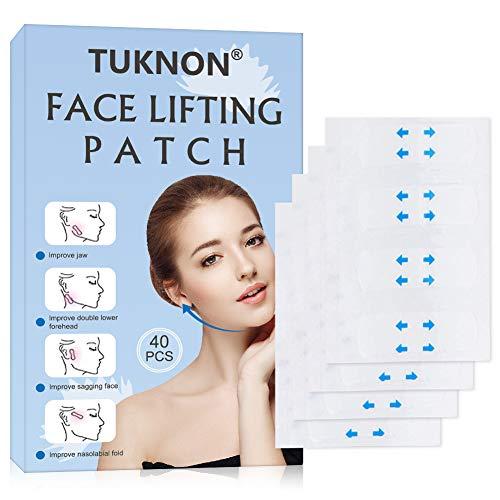 Facelifting Aufkleber, Face Lifting Tape, Face Lift Sticker, Lift Gesicht Aufkleber, Unsichtbare Dünne Gesicht Aufklebe, Facelifting Klebeband, V-Form Face Lift Patch Face Lift Tools für Gesicht,40 PC