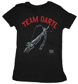 Walking Dead Junior s Team Daryl Dixon Crossbow T-Shirt Black XX-Large